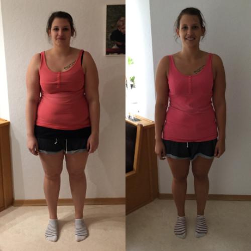 Melanie Personal Training Abnehmen Erfolg Vorher Nacher